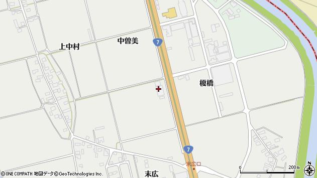 山形県酒田市広野中曽美1周辺の地図