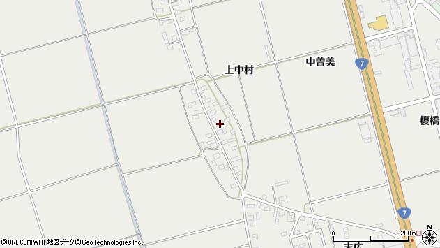 山形県酒田市広野上中村72周辺の地図