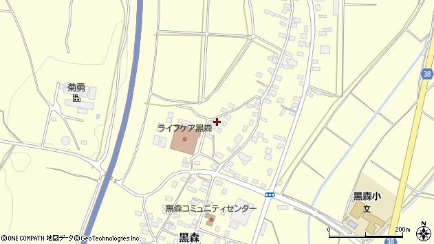山形県酒田市黒森葭葉山96周辺の地図