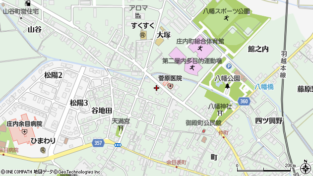 山形県東田川郡庄内町余目町370周辺の地図