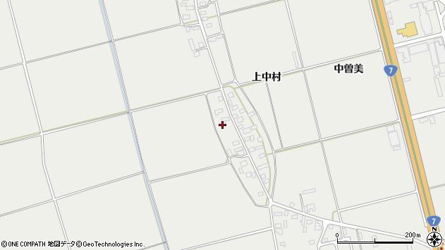 山形県酒田市広野上中村123周辺の地図