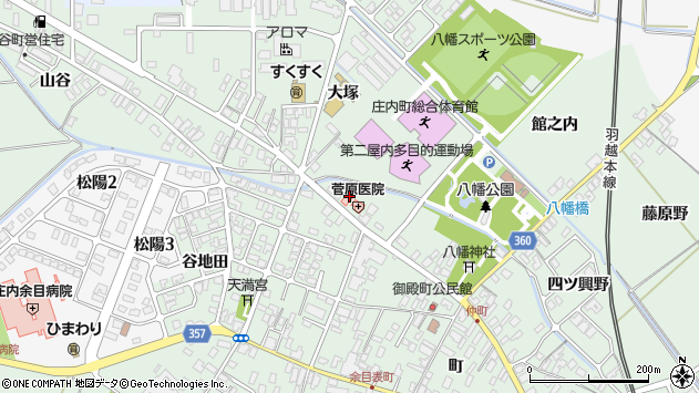 山形県東田川郡庄内町余目町265周辺の地図