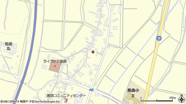 山形県酒田市黒森谷地中42周辺の地図