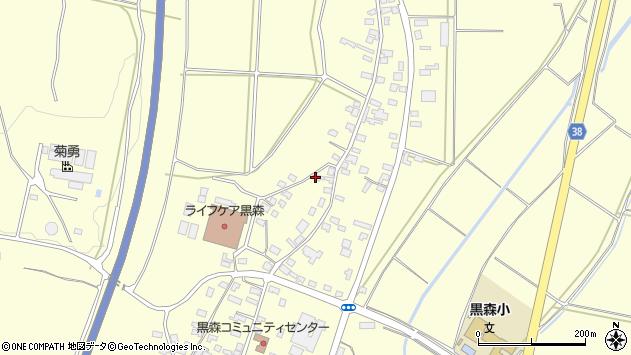 山形県酒田市黒森葭葉山86周辺の地図