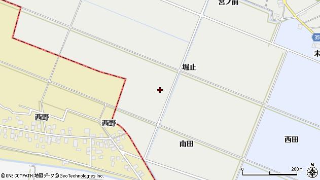 山形県酒田市門田堀止周辺の地図