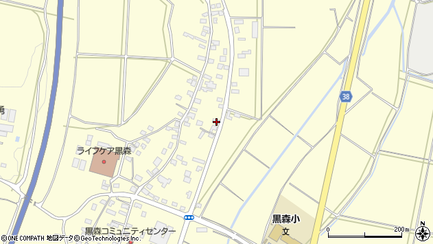 山形県酒田市黒森鏥44周辺の地図