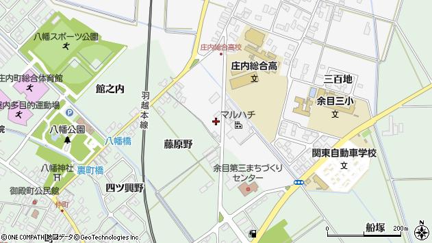山形県東田川郡庄内町余目藤原野12周辺の地図