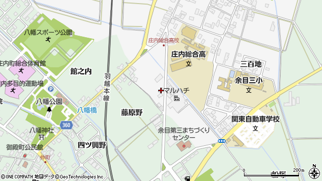山形県東田川郡庄内町廿六木五反田70周辺の地図
