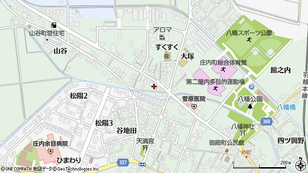 山形県東田川郡庄内町余目大塚77周辺の地図