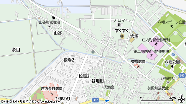 山形県東田川郡庄内町余目山谷39周辺の地図