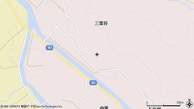山形県酒田市山元三栗谷45周辺の地図
