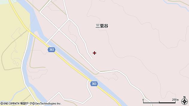 山形県酒田市山元三栗谷周辺の地図
