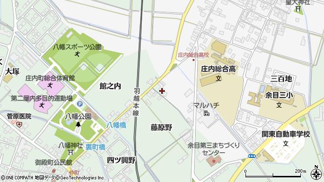 山形県東田川郡庄内町余目藤原野20周辺の地図