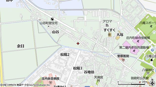 山形県東田川郡庄内町余目山谷43周辺の地図