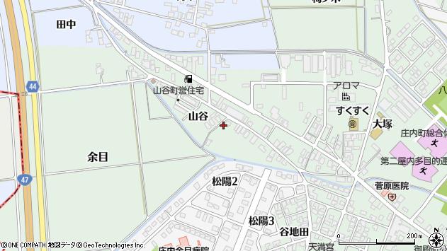 山形県東田川郡庄内町余目山谷5周辺の地図