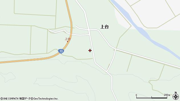 山形県最上郡金山町上台118周辺の地図