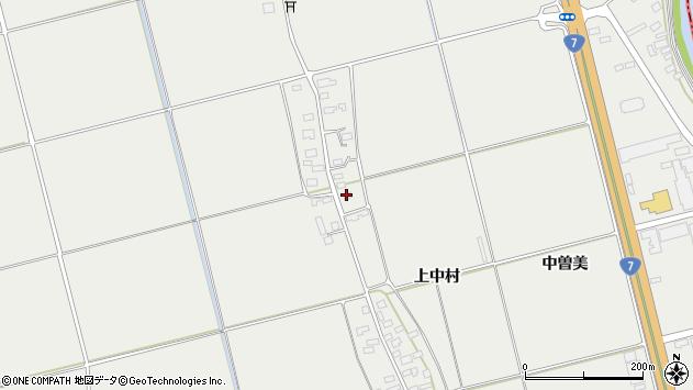 山形県酒田市広野上中村166周辺の地図