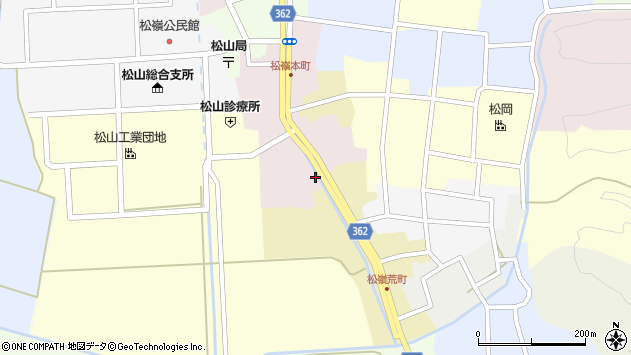 山形県酒田市本町52周辺の地図