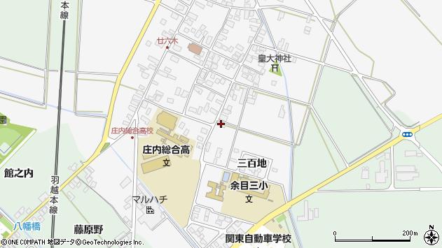 山形県東田川郡庄内町廿六木三ツ車1周辺の地図