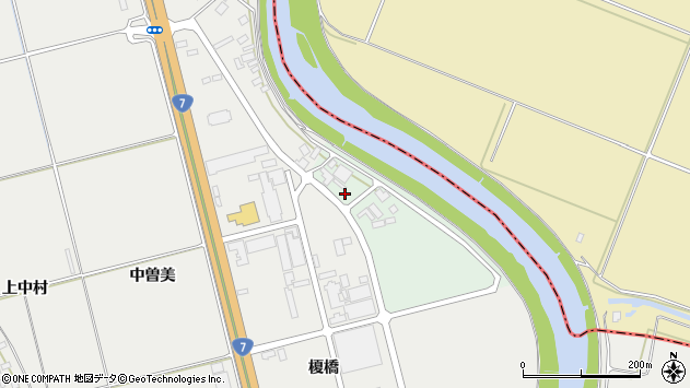 山形県酒田市広野川端割72周辺の地図