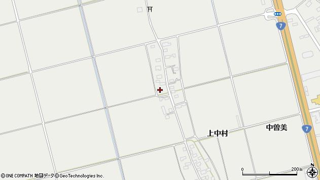 山形県酒田市広野上中村199周辺の地図