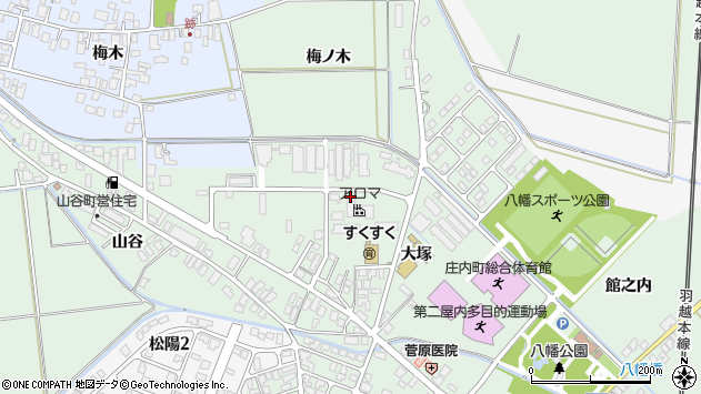 山形県東田川郡庄内町余目大塚35周辺の地図
