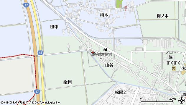 山形県東田川郡庄内町余目山谷69周辺の地図
