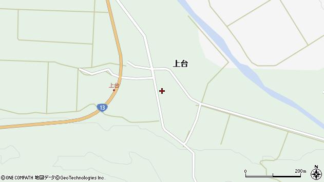 山形県最上郡金山町上台106周辺の地図