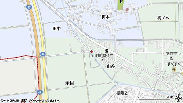 山形県東田川郡庄内町余目山谷21周辺の地図