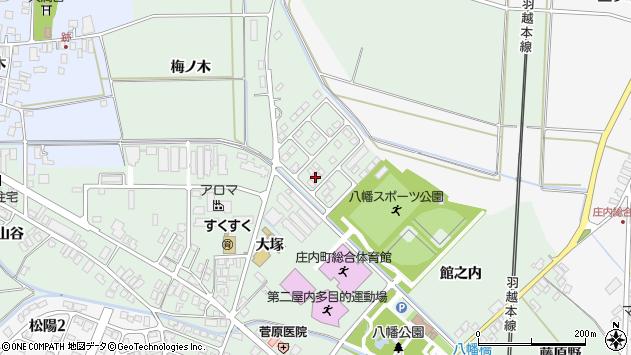 山形県東田川郡庄内町余目館之内73周辺の地図