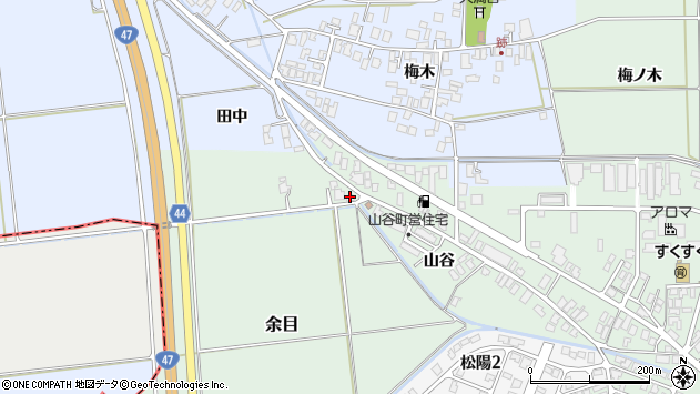 山形県東田川郡庄内町余目山谷71周辺の地図