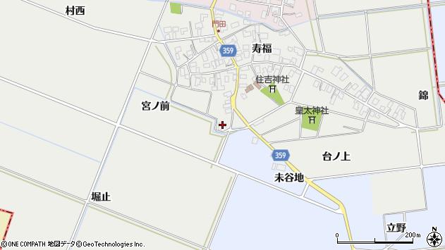山形県酒田市門田宮ノ前46周辺の地図
