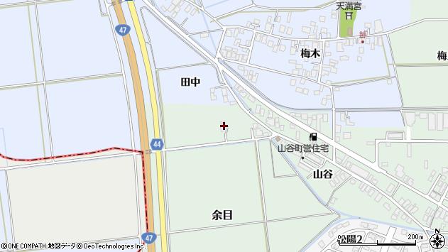 山形県東田川郡庄内町跡菖蒲田周辺の地図