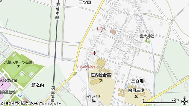 山形県東田川郡庄内町廿六木三ツ車11周辺の地図