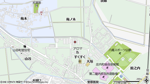 山形県東田川郡庄内町余目大塚23周辺の地図