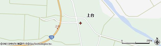 山形県最上郡金山町上台104周辺の地図