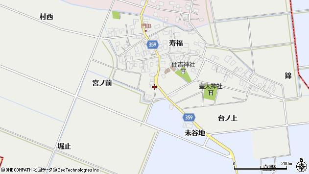 山形県酒田市門田宮ノ前周辺の地図