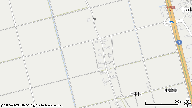山形県酒田市広野上中村周辺の地図