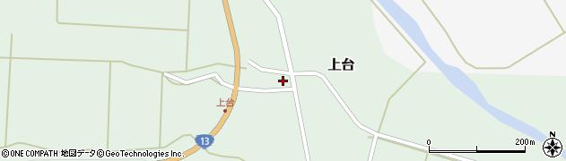 山形県最上郡金山町上台123周辺の地図