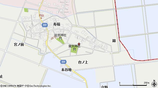 山形県酒田市門田寿福37周辺の地図