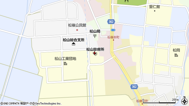 山形県酒田市西田周辺の地図