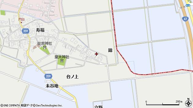 山形県酒田市門田台ノ上31周辺の地図