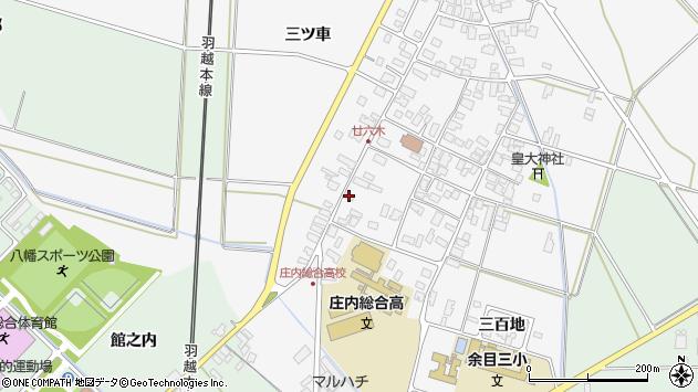 山形県東田川郡庄内町廿六木三ツ車16周辺の地図