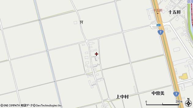 山形県酒田市広野上中村189周辺の地図