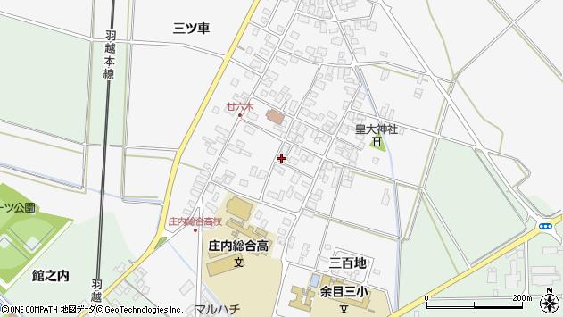 山形県東田川郡庄内町廿六木三ツ車27周辺の地図