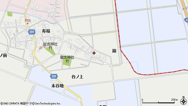 山形県酒田市門田台ノ上75周辺の地図
