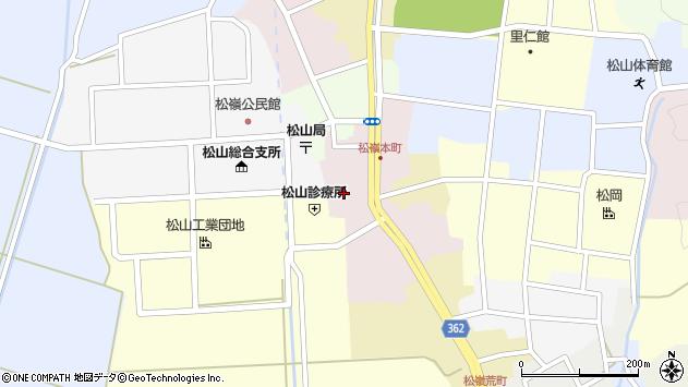 山形県酒田市本町40周辺の地図