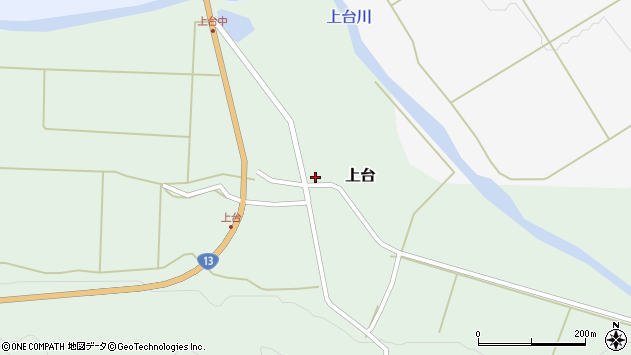 山形県最上郡金山町上台102周辺の地図