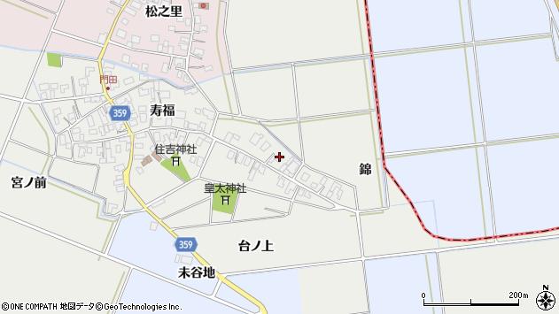 山形県酒田市門田寿福2周辺の地図