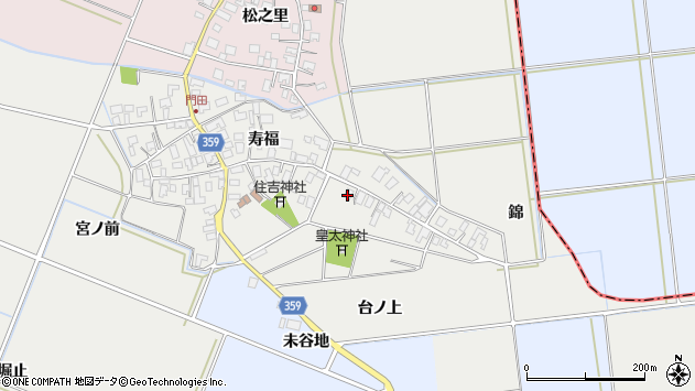 山形県酒田市門田寿福26周辺の地図